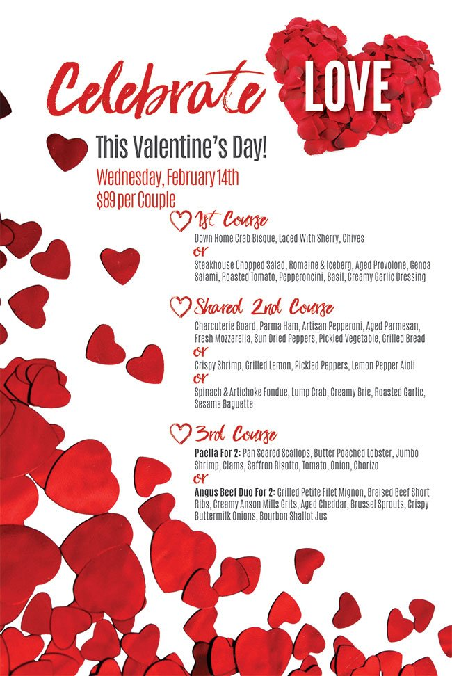 Valentine S Day Menu Dockside Bar And Grille West Ocean City
